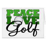 Paz, amor y golf felicitación
