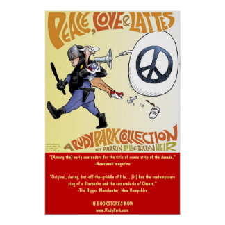 Paz, amor y Lattes: una colección del parque de Póster