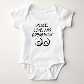 Paz, amor, y leche materna playeras