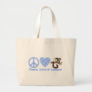 Paz, amor y Lemurs Bolsa