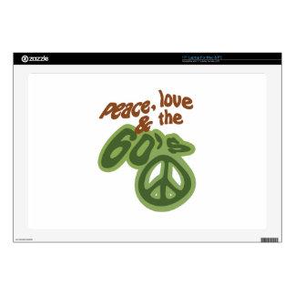 Paz, amor y los años 60 portátil skin