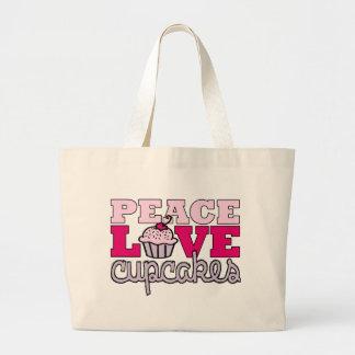 ¡Paz, amor y magdalenas! Bolsas De Mano