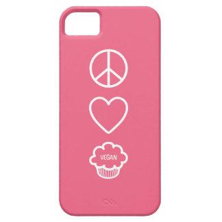 Paz, amor y magdalenas del vegano iPhone 5 funda