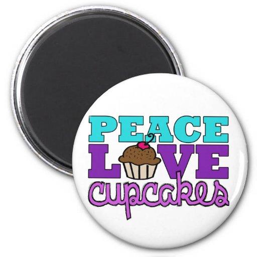 ¡Paz, amor y magdalenas! Imán Para Frigorífico
