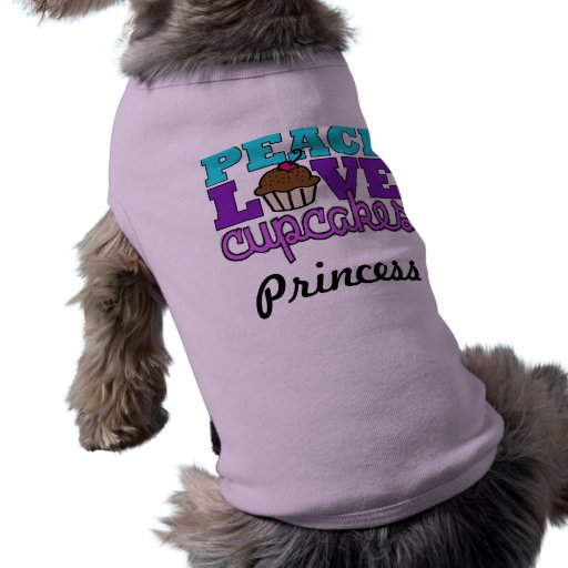 Paz, amor y magdalenas - nombre del animal de comp camiseta de perrito