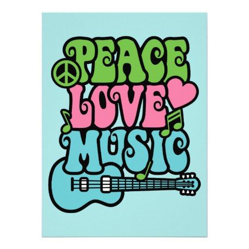 Paz, amor y música comunicados personales