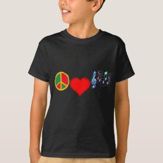 Paz, amor y MÚSICA Playera