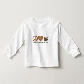 Paz, amor y perezas t-shirt