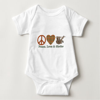 Paz, amor y perezas t shirts