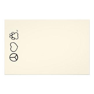 Paz, amor, y perros  papeleria