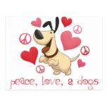 Paz, amor, y perros postales