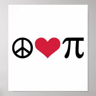 Paz, amor y pi impresiones