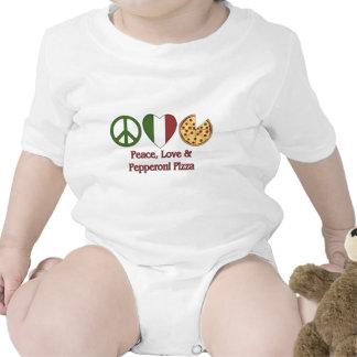 Paz amor y pizza de salchichones camiseta