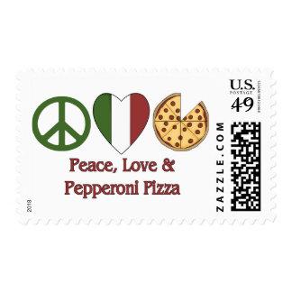 Paz, amor y pizza de salchichones franqueo