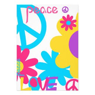 ¡Paz, amor y REALMENTE brillante! - Ningún texto Invitación