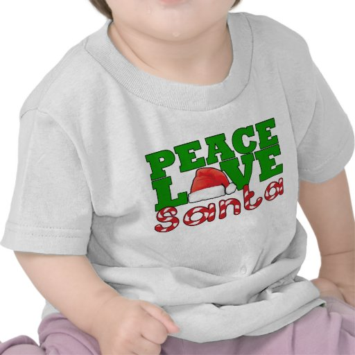 Paz, amor y Santa Camisetas