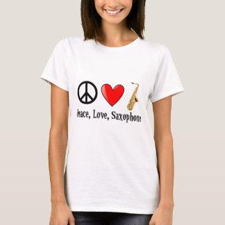 Paz, amor, y saxofón playera