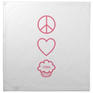 Paz, amor y servilletas del paño de las magdalenas