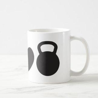 "Paz, amor, y taza de Kettlebell"""