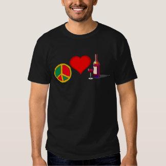 Paz, amor y VINO ROJO Remera