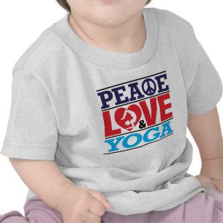 Paz, amor y yoga camisetas
