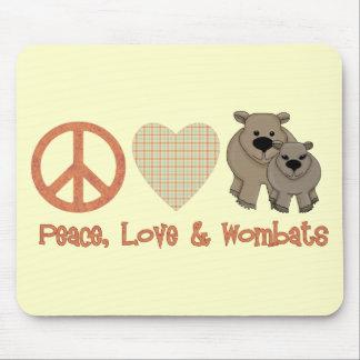 Paz, &amp del amor; Wombats Alfombrilla De Raton