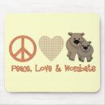 Paz, &amp del amor; Wombats Tapetes De Raton