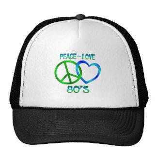 Paz - años 80 del amor gorras de camionero