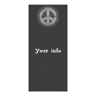 Paz antigua del grabar en madera tarjeta publicitaria a todo color