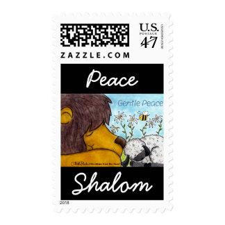 Paz apacible del león y del cordero timbre postal