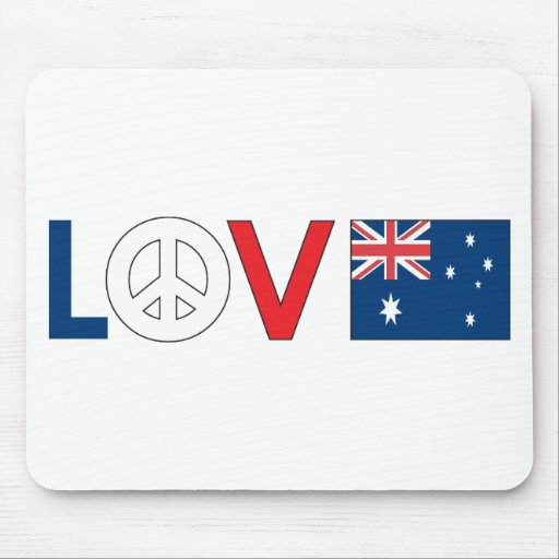 Paz Australia del amor Alfombrillas De Ratones