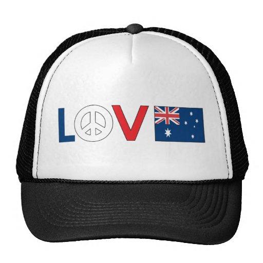 Paz Australia del amor Gorros