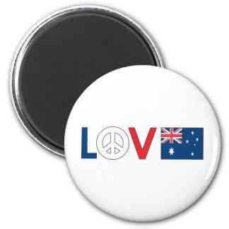 Paz Australia del amor Imán Redondo 5 Cm