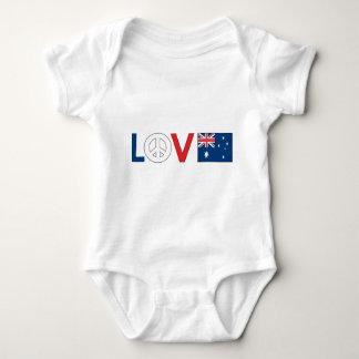 Paz Australia del amor Playera