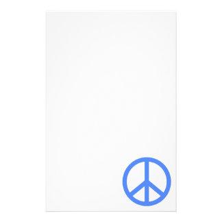Paz azul clara papelería personalizada