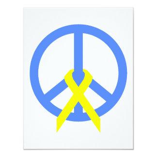 """Paz azul clara y cinta invitación 4.25"""" x 5.5"""""""