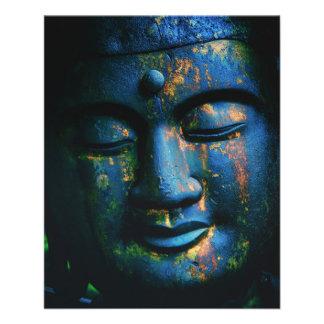 Paz azul de Buda OM Flyer A Todo Color