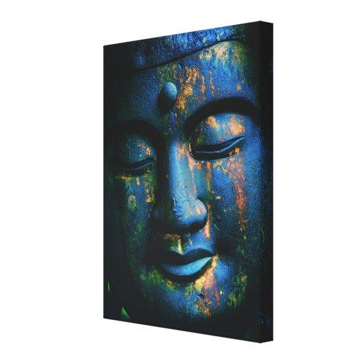 Paz azul de Buda OM Lona Envuelta Para Galerias