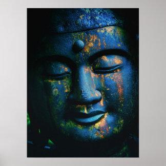 Paz azul de Buda OM Posters