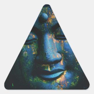 Paz azul de Buda OM Pegatina De Triangulo Personalizadas