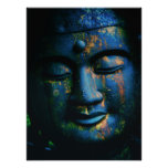 Paz azul de Buda OM Póster