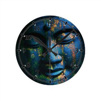 Paz azul de Buda OM Relojes De Pared