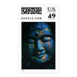 Paz azul de Buda OM Sellos Postales