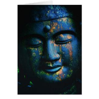 Paz azul de Buda OM Tarjeta Pequeña