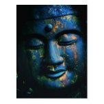 Paz azul de Buda OM Tarjeta Postal