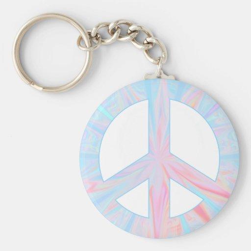 paz azul llaveros personalizados