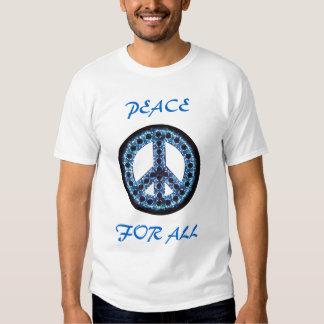 paz azul para toda la camiseta polera