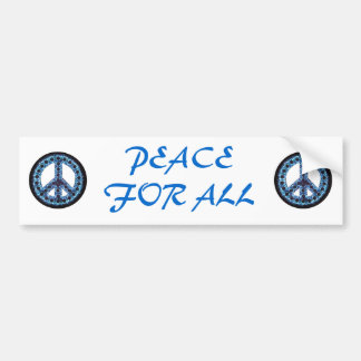 paz azul para toda la pegatina para el parachoques etiqueta de parachoque