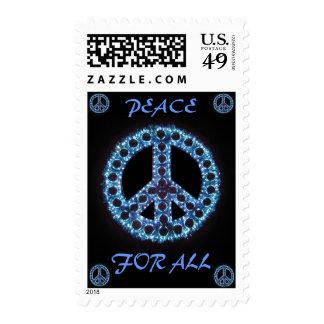 paz azul para todo el franqueo