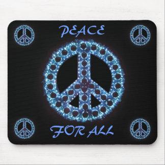 paz azul para todo el mousepad